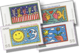 James Rizzi - German postage stamps 2008